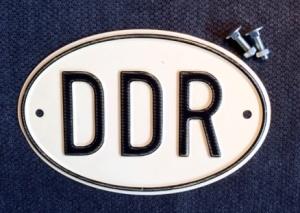 Autokennzeichen der DDR © GvP